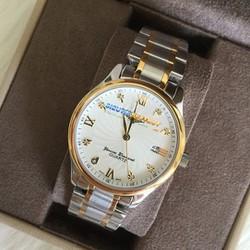 Đồng hồ nam mặt trắng dây demi 19946