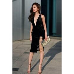 Đầm ôm body sexy xẻ tà D833