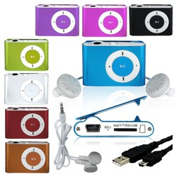 Máy nghe nhạc MP3 Shuffle vỏ nhôm có khe thẻ nhớ