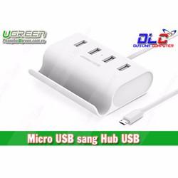 Cáp chuyển OTG ra 4 cổng USB 2.0 cho điện thoại, máy tính bảng