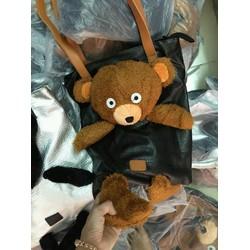 Túi xách đeo vai gấu xám