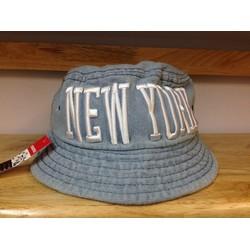 Nón bucket jeans Hàn Quốc NEW YORK xanh lợt 017