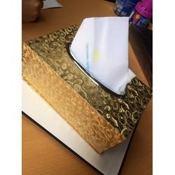 Hộp đựng khăn giấy mạ vàng cao cấp