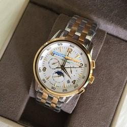 Đồng hồ nam mặt trắng dây demi 20286