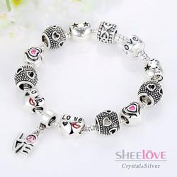 vòng tay hạt charm phong thuỷ LOVE xinh xắn dễ thương PA1488