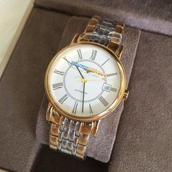 Đồng hồ nam mặt trắng dây demi 19947