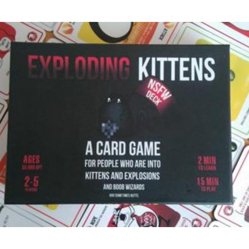 BOARD GAME MÈO NỔ BẢN 18+  EXPLODING KITTEN