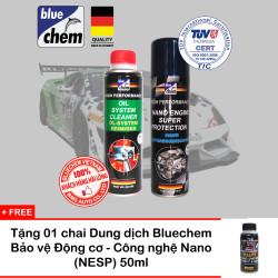 Cặp sản phẩm Bluechem Vệ sinh và Bảo vệ Động cơ ô tô