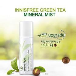 Xịt khoáng trà xanh Inisfree GREEN TEA MINERAL MIST 50ml