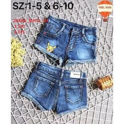Short  jeans bé gái