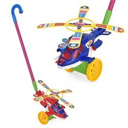 Xe đẩy tập đi hình máy bay trực thăng ngộ nghĩnh cho bé