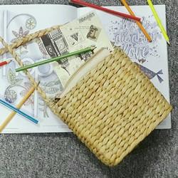 Túi đan nhỏ quai lục bình
