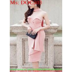 Đầm body cúp ngực 2 dây kiểu dáng sành điệu thời trang DOC303