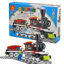 Hộp đồ chơi lắp ghép mô hình lego loại lớn -Tàu hỏa siêu tốc