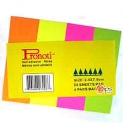 COMBO 5 xấp note 4 màu dạ quang Pronoti
