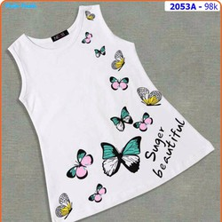 Đầm thun cotton bướm xinh mát mẻ ngày hè