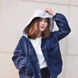 Áo Khoác Kaki New Style Nữ - Màu Xanh Đen thời trang 3AKD22