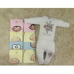 set 5 bộ đồ cho bé từ sơ sinh đến 12 tháng