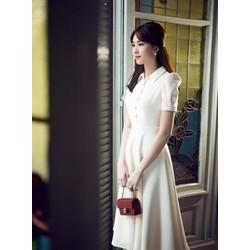 Đầm Vintage Thiết Kế Duyên Dáng Đẹp Như HH Thu Thảo