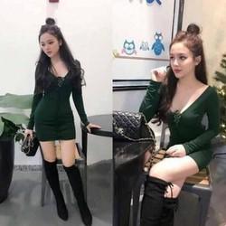 Đầm body khoét ngực sâu sexy