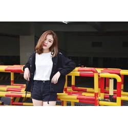 Áo Khoác Kaki New Style Nữ - Màu Đen thời trang 1AKD22
