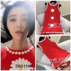 Đầm suôn sn viền hoa hàng QC