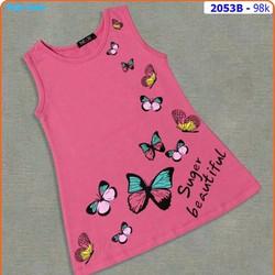 Đầm thun cotton bướm xinh mát mẽ ngày hè