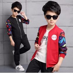 Bộ quần áo thu đông cho bé trai từ 4 đến 12 tuổi 2017 - ST7102