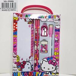 Bộ dụng cụ học sinh - 6 món - Hello Kitty