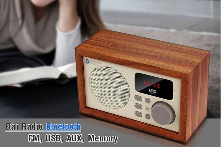 Loa Bluetooth kèm đài FM - Đồng hồ báo thức LOCI cao cấp 11