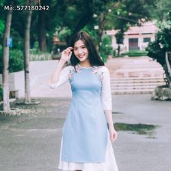 áo dài cách tân kèm váy