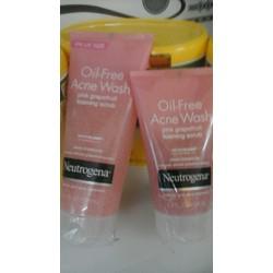 SỮA RỬA MẶT - Neutrogena Oil-Free Acne Wash Pink Grapefruit Foaming