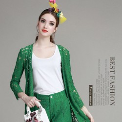 Set áo thun + quần short KL30216 - kèm khoác ren