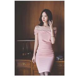 Đầm body bẹt vai quyến rũ DB1747