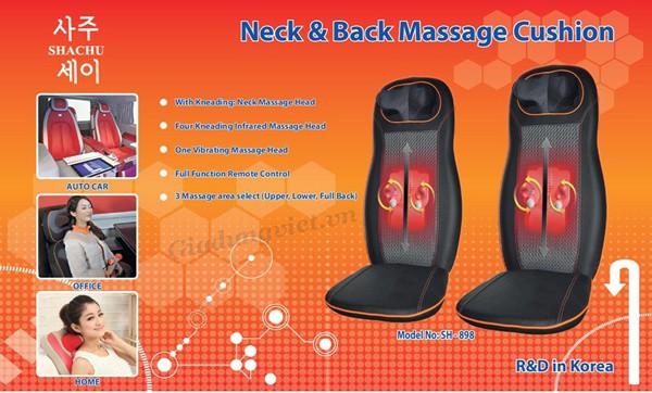 Đệm massage toàn thân hồng ngoại ShaChu 958PH-C