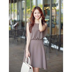 Đầm xòe chiffon 2 lớp thời trang - NR147