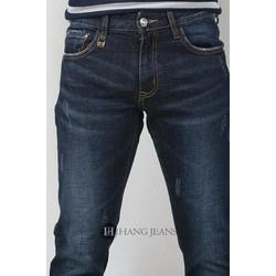 Quần jeans nam ống côn màu xanh đen 16-7092