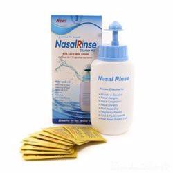 Bình rửa mũi NasalRinse tặng 10 gói muối