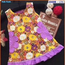 Đầm kate sắc hoa mùa hạ cho bé thêm xinh