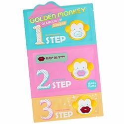 Bộ kit 3 bước dưỡng môi Holika Golden Monkey Glamour Lip 3-step kit