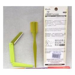 Bộ dao cạo chân mày, dao cạo lông mày xếp gọn và lược chải. M1-4
