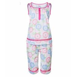 Bộ đồ mặc nhà cotton phối ren QUẾ LÂM - Hồng