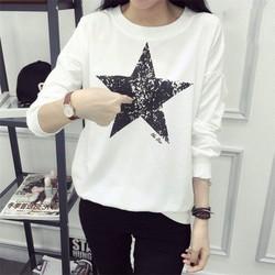 Áo thun nữ tay dài ngôi sao