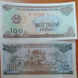 combo 5 tờ tiền 100 đồng năm 1991 mới UNC