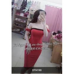 Đầm body cúp ngực bẹt vai