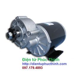 Động cơ xe điện 48V 450W chổi than giảm tốc trên
