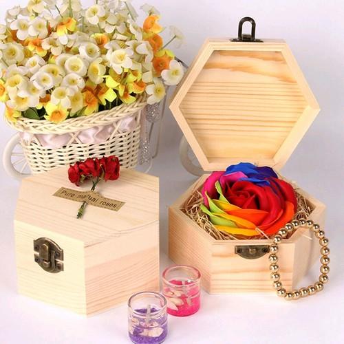 Hoa hồng sáp kèm hộp gỗ - 4157674 , 4900965 , 15_4900965 , 119000 , Hoa-hong-sap-kem-hop-go-15_4900965 , sendo.vn , Hoa hồng sáp kèm hộp gỗ