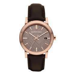 Đồng hồ Burberry The City Brown Leather Strap