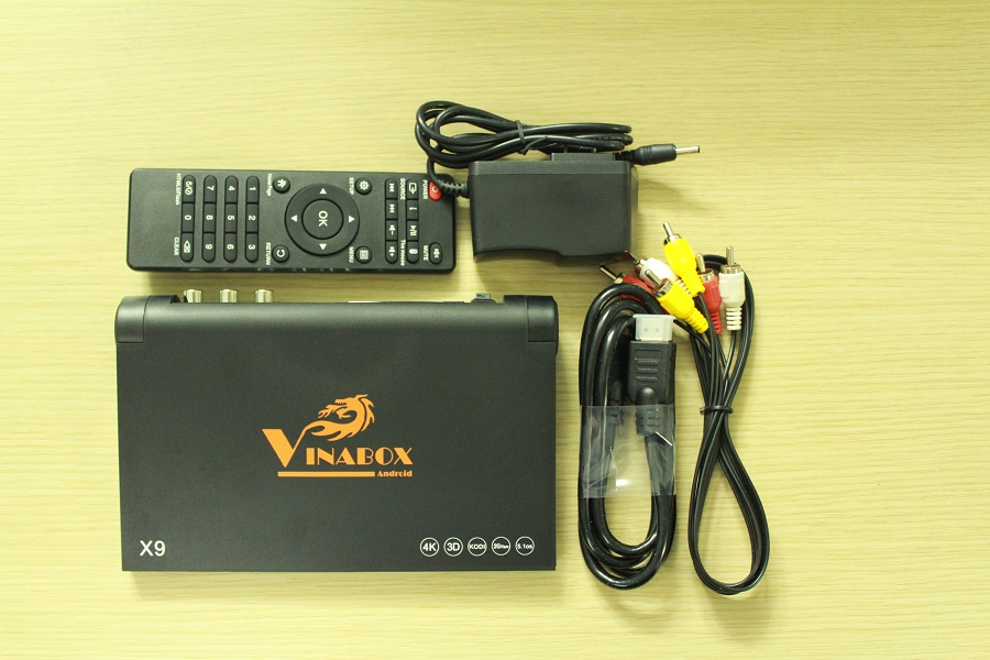 Android Tivi Box Vinabox X9- RAM 2GB + Tặng 1 chuột bay KM800 6