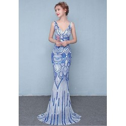 Đầm dạ hội đuôi cá kim sa